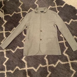 Cotton blazer cardigan